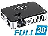 Telefunken DLP500 Mini LED-DLP Projektor (Full-3D, 1280 x 800 Pixel, 500 ANSI Lumen, Kontrast 1000:1, HDMI 1.4, VGA, USB 2.0)