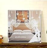 GRAVURZEILE Motivspiegel zur Hochzeit mit Gravur Wanddeko & Wanddekoration Spiegel mit Gravur schönes Geschenk zur Hochzeit & Hochzeitstag - Personalisierbar Größe 15 x 15 cm