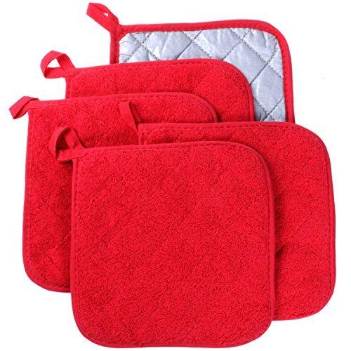 100% cotone Terry-Everyday-Vaso porta sottobicchieri copertura/cosy per teiera resistente al calore per cottura, confezione da 5