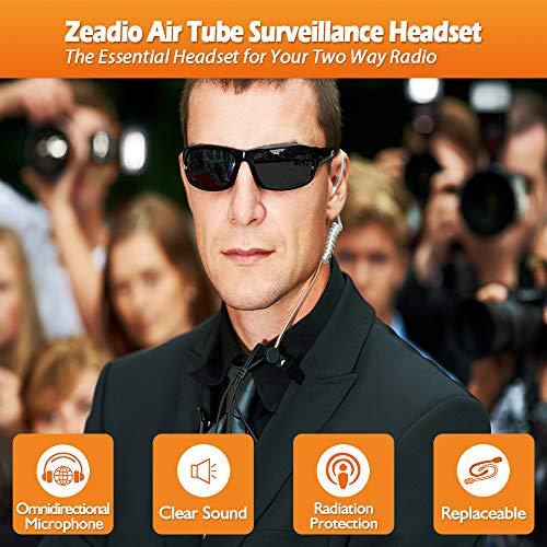 Zeadio auricular con tubo y ajuste para la radio multipin Motorola y Walkie Talkie auricular ac/ústico para vigilancia