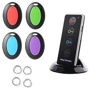 Sidiou Group 4-in-1 cercatore chiave chiavi chiamante senza fili Locator Pet Finder Kit allarme con LED Flashlight