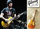Portachiavi Chitarra Gibson Les Paul Gold Top The Edge U2