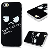 iPhone SE Case,iPhone 5 & 5S Case, YOKIRIN Colorful Painted Soft TPU Bumper Rubber Silicone Scratch Resistant Protective Clear Ultra Slim Skin Cover for iPhone SE /5 /5S,Black Eyes