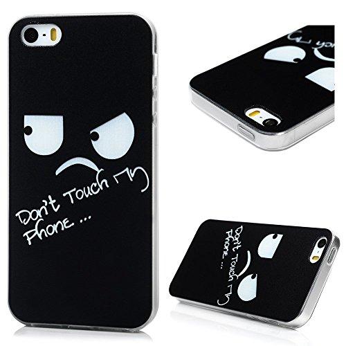 iPhone 5/iPhone 5S/iPhone SE Smartphone Coque de Protection- YOKIRIN® Phone Case de TPU Souple Ultra Illustration en Couleur- Fleur Rétro Style 13