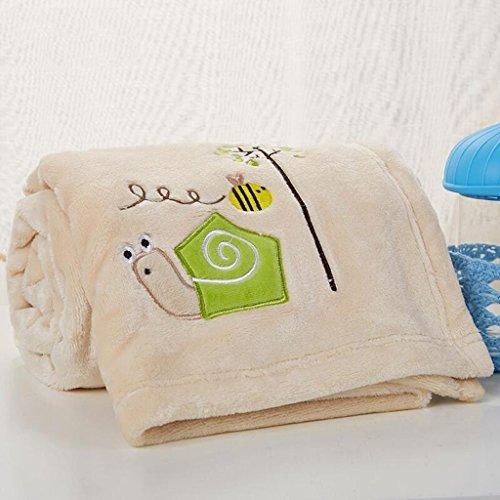 YAOHAOHAO Khaki Schnecke Muster babydecke Decke Polyester Material Winter Kindergarten Konzipiert für Baby (100*150cm)