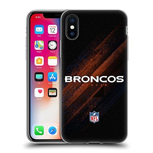 Offizielle NFL Helm Denver Broncos Logo Soft Gel Hülle für Apple iPhone 5 / 5s / SE Unschärfe