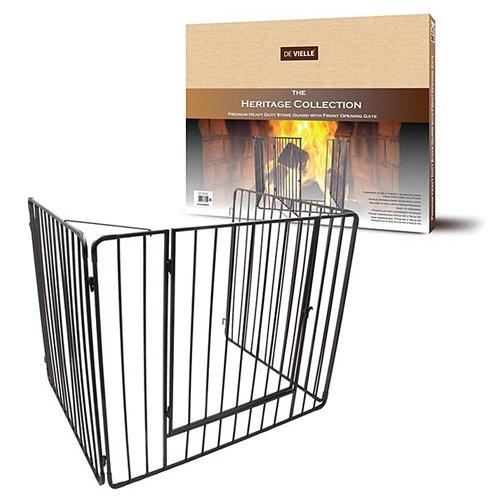 De Vielle - Protector de chimenea con puerta, cuidado para los niños,...
