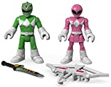 Fisher-Price – Imaginext – Power Rangers – Grüner Ranger & Rosa Ranger – 2 Mini Spielfiguren + Accessoire