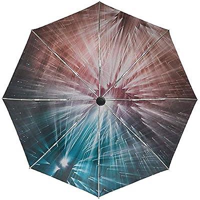 Paraguas automático Rayos Luz Brillo Viaje Conveniente A Prueba de Viento Impermeable Plegable Automático Abrir Cerrar