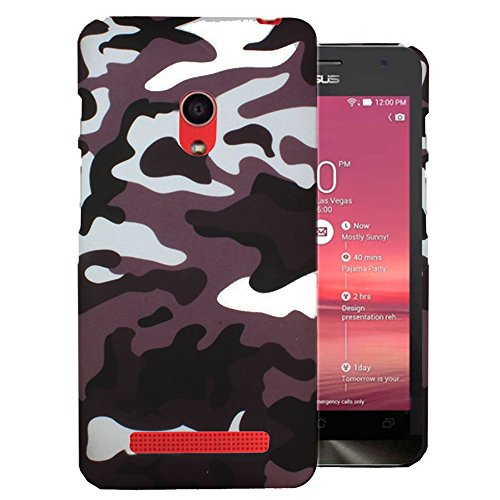 Heartly Army Style Retro Color Armor Hybrid Hard Bumper Back Case Cover For Asus Zenfone 5 A501CG - Ash Brown