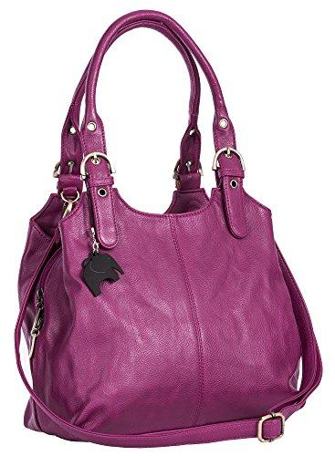 Big Handbag Shop, Borsa a mano donna Violett Lila (Plain S105)