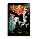 Jean Reno in Léon, Film de Luc Besson - Illustration Originale Encadrée, Pop-Art Peinture, Presse Artistique, Poster, Toile Imprimée, Image sur Toile, Affiche d'art, Affiche de Film