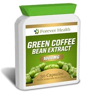 Grain de Café Vert Green Coffee Bean 1000mg Régime Minceur Perte de Poids Brûleur de Graisses - 30 Pilules