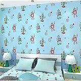 Tapeten Wandbild Hintergrundbild Fototapetemoderne Karikatur Roboter Kinder Tapeten Wohnkultur Kinder Jungen Mädchen Schlafzimmer Wohnzimmer Wandpapierrolle Für Wände Kontaktpapier