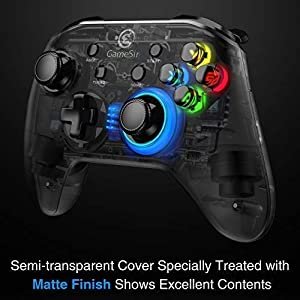 GameSir T4 Wired Gamepad 2.4 GHz Wireless Game Controller with LED Light Gaming Joystick Support PC (Windows 7/8/10)