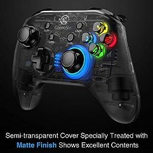 GameSir T4 Kabelgebundener PC Gamepad 2,4 GHz Wireless Game Controller mit LED-Licht-Gaming-Joystick Vier konfigurierbare Tasten unterstützen Windows 10 / 8.1 / 8/7