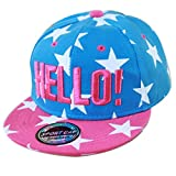 THENICE Kind Hip-Hop Cap Baseball Kappe Hut (Star azurblau )