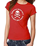 clothinx Damen T-Shirt Fit Normale Menschen Rot Gr. S