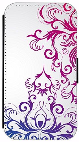 Kuna Flip Cover für Apple iPhone 5 / 5s Design K134 Zebra Hülle aus Kunst-Leder Handy Tasche Etui mit Kreditkartenfächern Schutzhülle Case Wallet Buchflip Rückseite Schwarz Vorderseite Bedruckt mit Bi K132