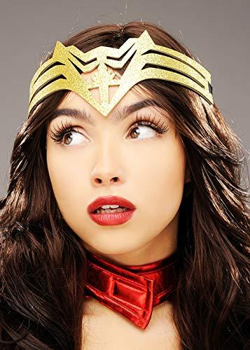 Magic Box Int. Wonder Woman Style Gold Glitter Superhelden Stirnband