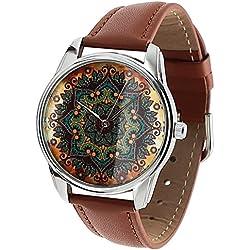 Ziz Armbanduhr mit Lederarmband