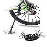 DOBEN Béquille VTT Vélo Réglable Bike Side, Kickstand Vélo 24-29 Pouces