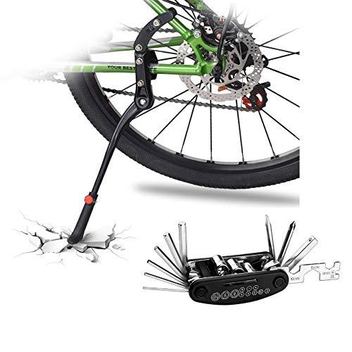 DOBEN Fahrradständer Einstellbarer - Hinterbauständer Aluminiumlegierung - Anti-Rutsch Gummi Fuß Seitenständer für 24-29 Zoll - Fahrrad Ständer/Kickstand / Prop Stand für Mountainbike/MTB, und mehr