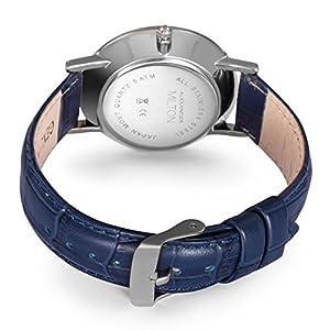 ALEXANDER MILTON Damenuhr, Edelstahl - Modell DIANA - blau/silber