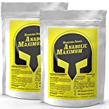 ANABOLIC MAXIMUM | 2x 500 (1000) Kapseln Bulk Pack XXL | Muskelaufbau + Nitro Booster mit Creatin...