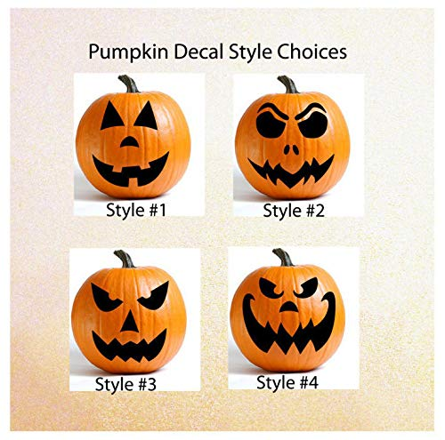 ufkleber, Kürbis-Gesicht, Dekoration, Halloween-Dekoration, Vinyl-Aufkleber ()