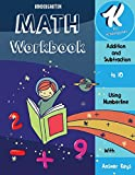 Math Workbook Kindergarten: Addition and Subtraction Using Number Line- Add and Subtract to 10