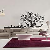 Wandsticker Zuhause Tier Vögel Dschungel Wandsticker 57 × 145cm