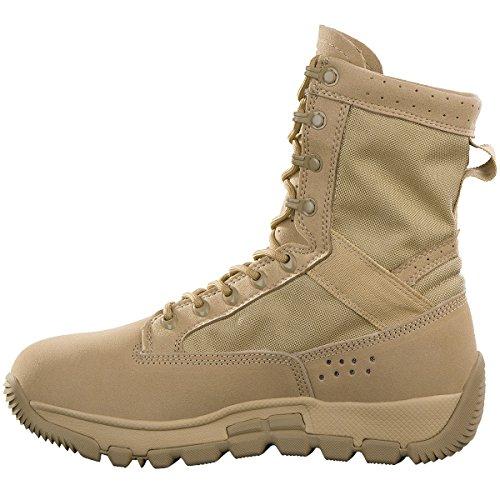 FREE SOLDIER Uomo Militare Patrol Lavoro Escursionismo Scarpe Tactical Del Deserto Stivali da Combattimento (Sandy, 40)