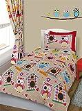Owls print Toddler bed / Cot Bed Duvet Cover & Pillowcase Set bedding