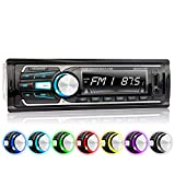 XOMAX XM-RSU257BT Autoradio mit Bluetooth Freisprecheinrichtung, 7 Farben einstellbar, USB bis 128 GB, SD bis 128 GB, FM Radio Tuner, MP3 und WMA, AUX IN, 4 x 60 Watt, abnehmbares Bedienteil, 1 DIN