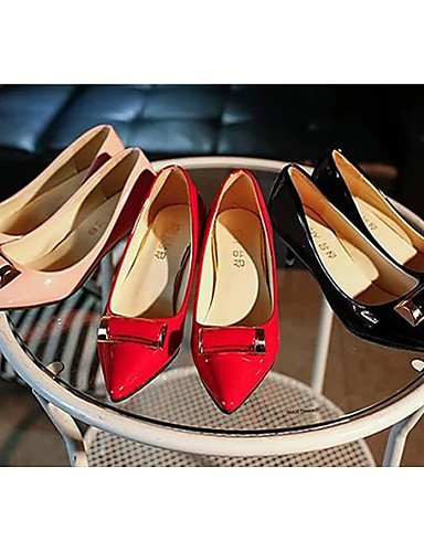 WSS 2016 Chaussures Femme-Habillé / Décontracté-Noir / Rose / Rouge-Kitten Heel-Bout Fermé-Sabots & Mules-Polyuréthane red-us6 / eu36 / uk4 / cn36