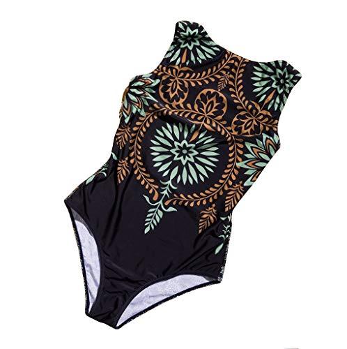 Ansenesna Badeanzug Damen Brazilian Vintage Bauchweg Bikini Frauen Hochgeschlossen Verschluss Bademode