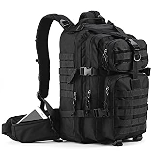 Gelindo Military Tactical Backpack, Hydration Backpack, Army Molle Bug-out Bag, Small Rucksack for Hunting, Survival, Camping, Trekking, 35L