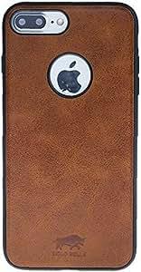 "Solo Pelle iPhone 7 Plus Case Lederhülle Ledertasche Backcover "" Flex "" in Cognac Braun"