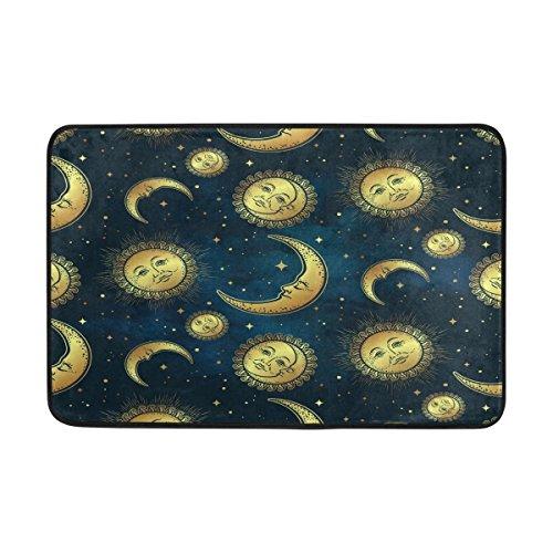Wellay Sonne, Mond und Sterne in Blau/Fußmatte, Indoor/Outdoor-Fußmatte/Teppich-Matte 59,9x - Sonne Badezimmer Mond Sterne Und