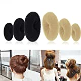 Modisches Damen-Haargummi in runder Form von Gemini_mall®, Hilfsmittel zum Stylen von Dutts/Haarknoten Test