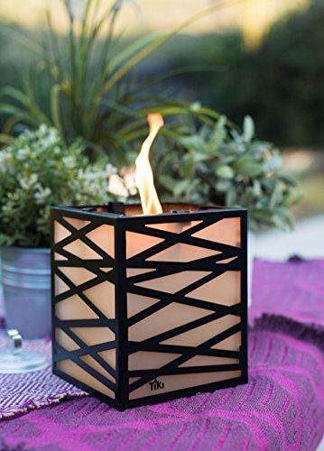 Tiki® Marke 6reinigen Brennen Abstrakt Metall Laterne, schwarz