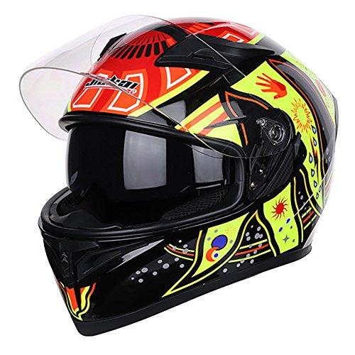 Motorrad Helm Cool Seasons Doppelobjektiv Motorrad Racing Helm,B,63/64CM