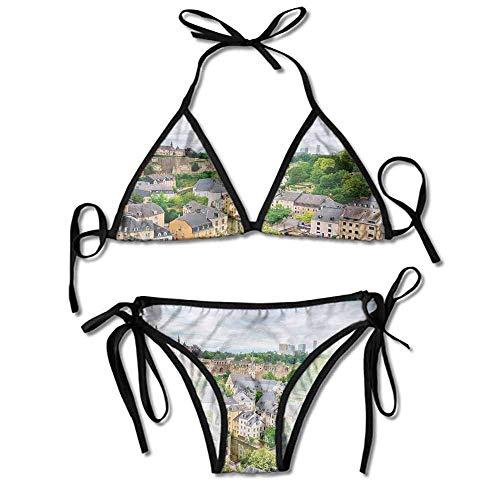 HLKPE Custom Bikini Zone Creme Hair Old Town Area Luxembourg City Printing Bikini -