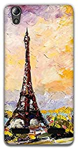 The Racoon Grip eiffel tower hard plastic printed back case / cover for Lenovo A6000
