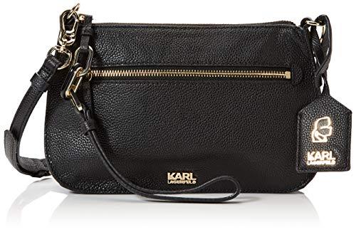 Karl Lagerfeld , Damen Umhängetasche schwarz Schwarz - Coach Designer-handtasche