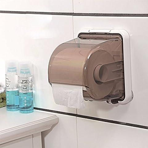 MDRW-Toilet Accessories Toilet Paper Rack Plastic Toilet Toilet Paper Box Kitchen Toilet Toilet Sucker Waterproof Paper Towel Rack Carton Paper Tube Free Punch