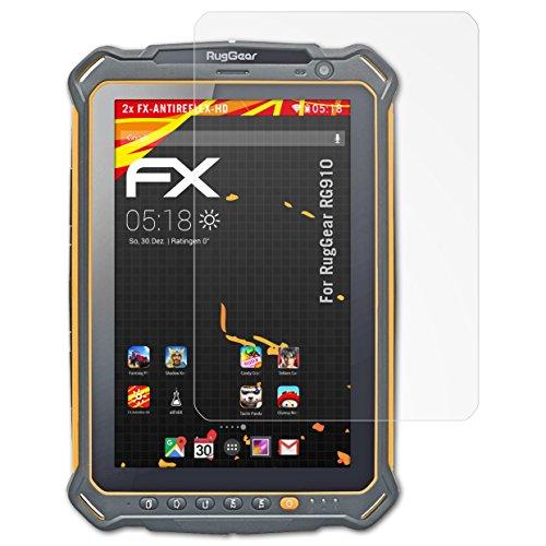 atFolix Schutzfolie kompatibel mit RugGear RG910 Bildschirmschutzfolie, HD-Entspiegelung FX Folie (2X)
