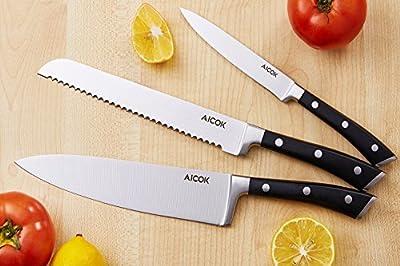 Set coltelli pezzi coltelli da cucina in acciaio inossidabile