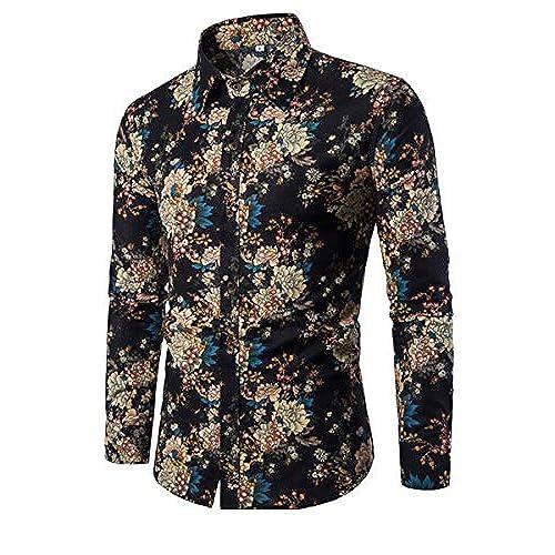 Men S Floral Printed Shirt Amazon Co Uk